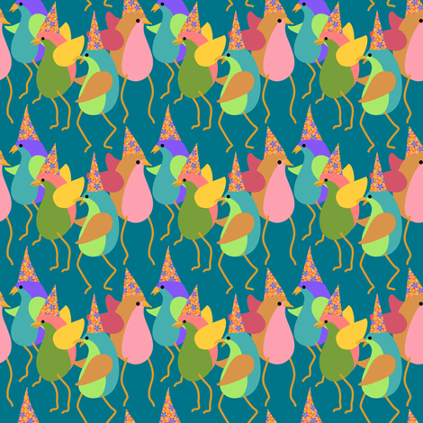 calling all birdbrains fabric by vo_aka_virginiao on Spoonflower - custom fabric
