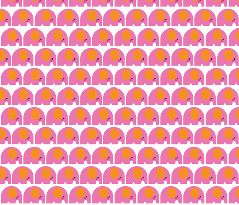 Elephant Motif Pink fabric by aliceapple on Spoonflower - custom fabric