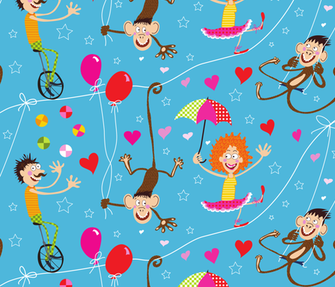 Circus Romance fabric by betje on Spoonflower - custom fabric
