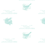 small Light aqua vintage birds