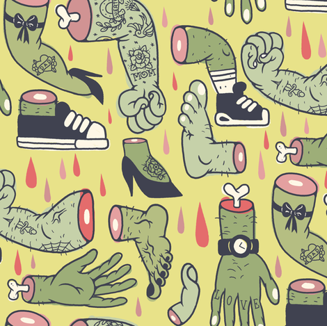 Body Parts! fabric by debbies on Spoonflower - custom fabric