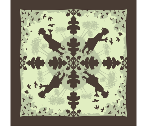 Hand Shadows Taking Flight fabric by kahoxworth on Spoonflower - custom fabric