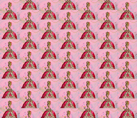 Marie Antoinette and Cakes Pillow Panel fabric by greerdesign on Spoonflower - custom fabric