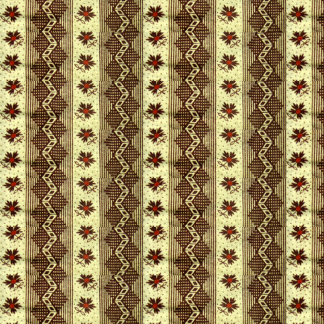 brown_zig_zag final fabric by the_cornish_crone on Spoonflower - custom fabric