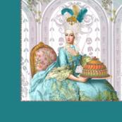 """Marie Antoinette """"Let Them Eat Cake"""" Pillow Panel"""