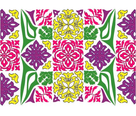 Mock_Hawaiian fabric by mckeearts on Spoonflower - custom fabric