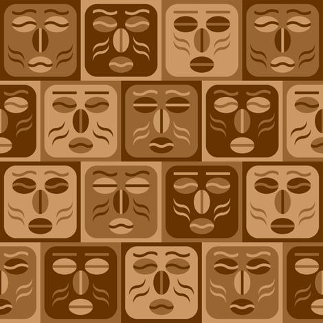 coffee tiki fabric by sef on Spoonflower - custom fabric