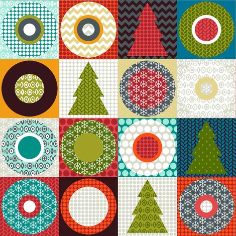geo christmas teeny fabric by scrummy on Spoonflower - custom fabric