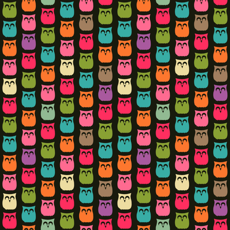 mini sherbet owls fabric by scrummy on Spoonflower - custom fabric