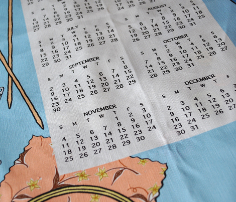2015 crafty tea towel calendar