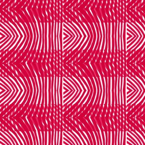 Tiger moth stripe plaid in red and white