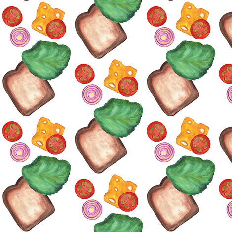 Falling Sandwich Plain fabric by eppiepeppercorn on Spoonflower - custom fabric