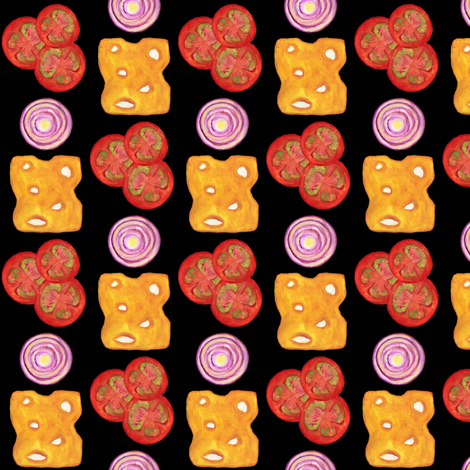 Topping Time (Black) fabric by eppiepeppercorn on Spoonflower - custom fabric