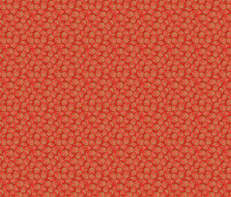 Fresh Tomato Jumble fabric by eppiepeppercorn on Spoonflower - custom fabric