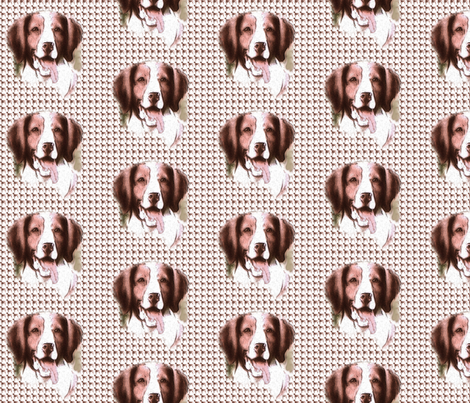 Brittany Spaniel fabric fabric by dogdaze_ on Spoonflower - custom fabric