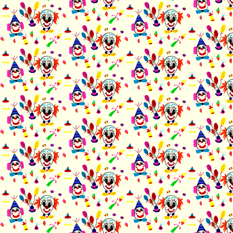 Circus - It's a clown's world fabric by angelgreen on Spoonflower - custom fabric