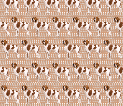 Brittany Spaniel fabric 2 fabric by dogdaze_ on Spoonflower - custom fabric