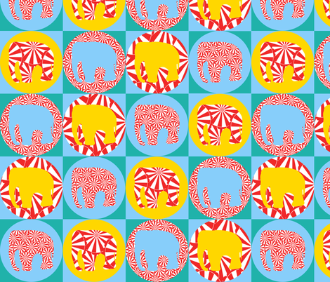 Circus Elephant fabric by pininkie on Spoonflower - custom fabric