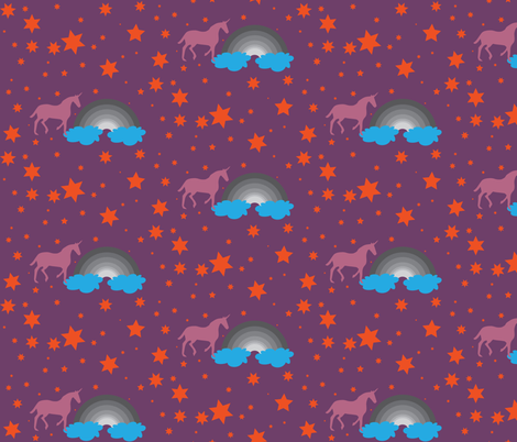 Unicorn 2 fabric by dolphinandcondor on Spoonflower - custom fabric