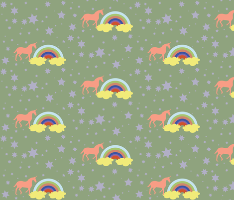 Unicorn 4 fabric by dolphinandcondor on Spoonflower - custom fabric