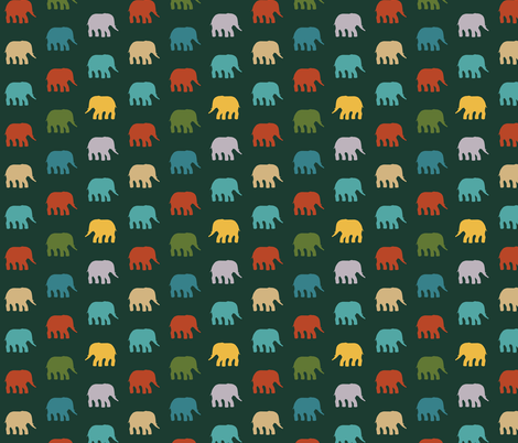 mini elephants dark fabric by scrummy on Spoonflower - custom fabric