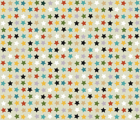 circus stars fabric by scrummy on Spoonflower - custom fabric