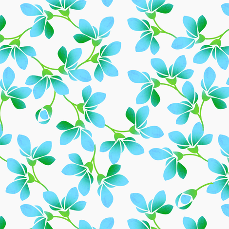 Blooms fabric by joanmclemore on Spoonflower - custom fabric