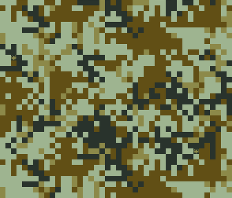 Digital Desert Camo fabric by ricraynor on Spoonflower - custom fabric