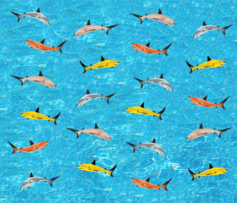 Sharks Galore! fabric by bigmamaslegacy on Spoonflower - custom fabric