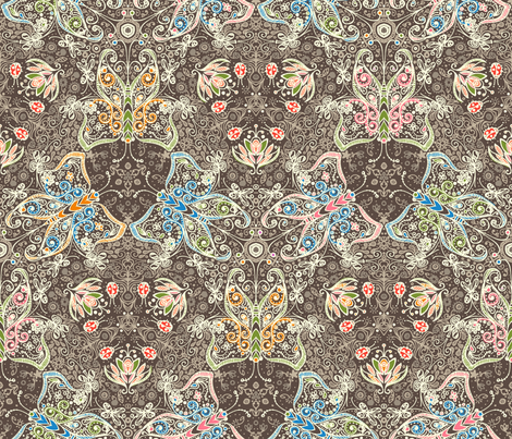 Anatomy of a Garden in Color III - © Lucinda Wei fabric by simboko on Spoonflower - custom fabric