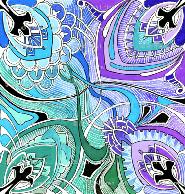 Four Square (pastel colors) large scale