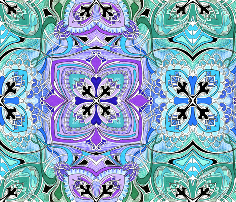 Four Square (pastel colors) large scale fabric by edsel2084 on Spoonflower - custom fabric
