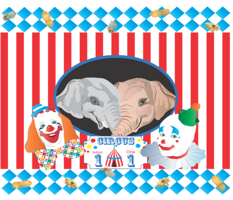 Welcome To The Big Top! fabric by baby_cakes on Spoonflower - custom fabric