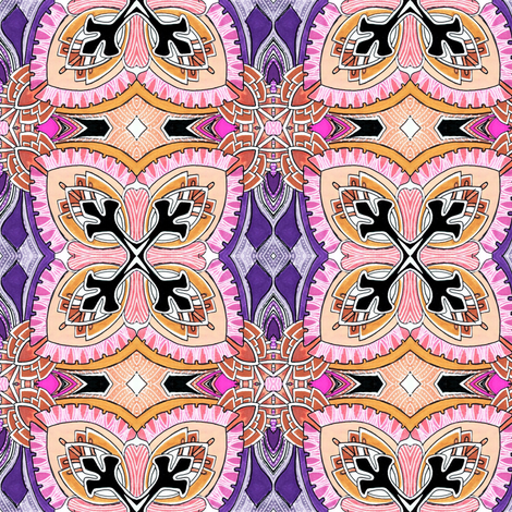 Square Two (pink, peach, and purple) fabric by edsel2084 on Spoonflower - custom fabric