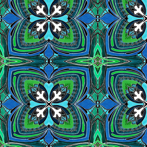 Square Three (midnight spring colors) fabric by edsel2084 on Spoonflower - custom fabric