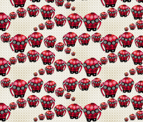 ©2011 ELEPHANTS ON PARADE fabric by glimmericks on Spoonflower - custom fabric