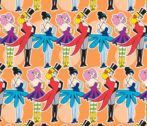 Circus Girls fabric by tessiegirldesigns on Spoonflower - custom fabric
