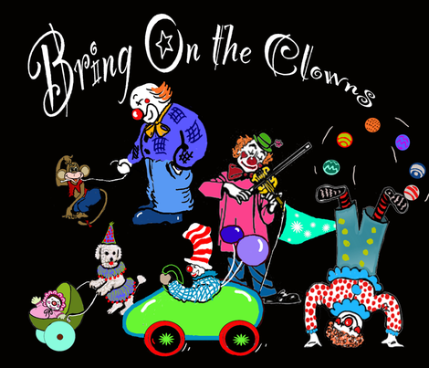 Bring On The Clowns fabric by dogdaze_ on Spoonflower - custom fabric