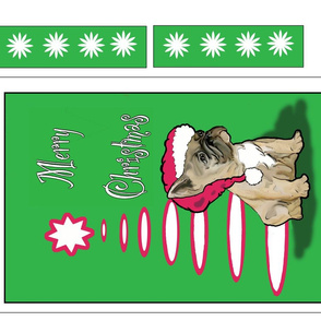 Frenchie Christmas Banner Fabric