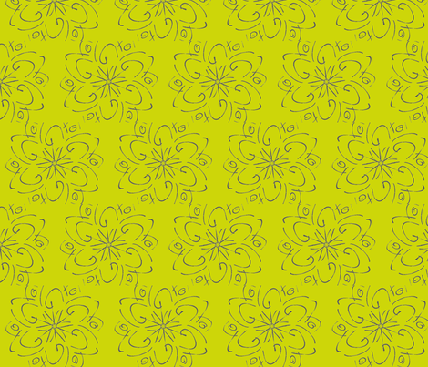 Yellow Bloom fabric by bluenini on Spoonflower - custom fabric