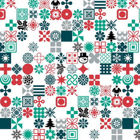 Christmas Ornaments fabric by pennycandy on Spoonflower - custom fabric