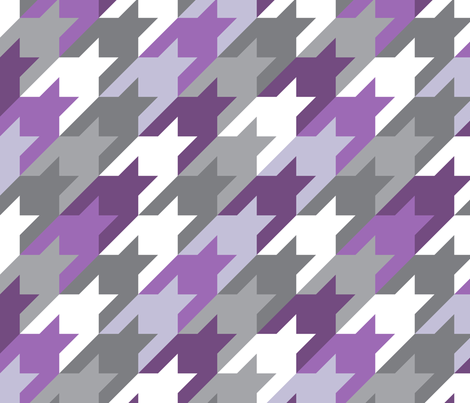 Big houndstooth purple fabric by ravynka on Spoonflower - custom fabric
