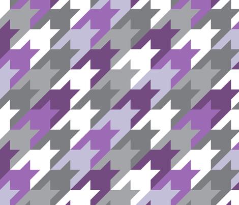 Big houndstooth purple fabric by ravynka on Spoonflower - custom fabric