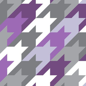 Big houndstooth purple