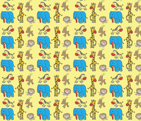 african animal clowns fabric by barakatblessings on Spoonflower - custom fabric