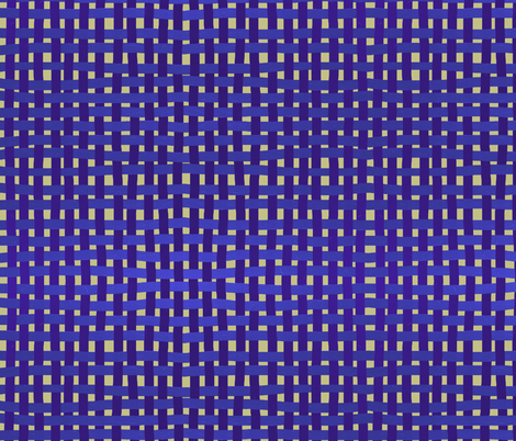 LARGE Woven purple, blue and indigo on a pale gold ground fabric by su_g on Spoonflower - custom fabric