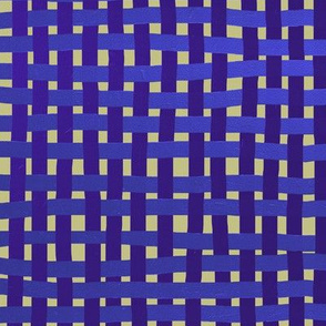 Woven purple, blue and indigo on a pale gold ground, LARGE