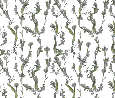 Flowerchain fabric by margarite on Spoonflower - custom fabric