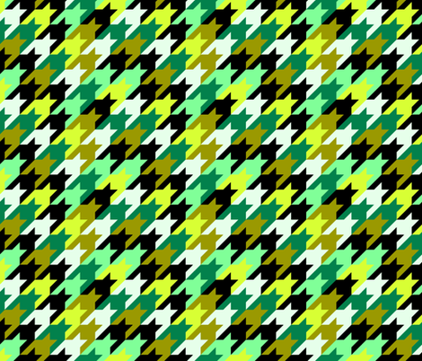 Technicolor_houndstooth fabric by ravynka on Spoonflower - custom fabric