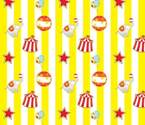 The Circus Is Coming! fabric by yanying on Spoonflower - custom fabric
